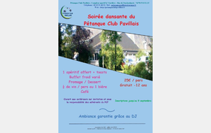 SOIREE PETANQUE CLUB PAVILLAIS